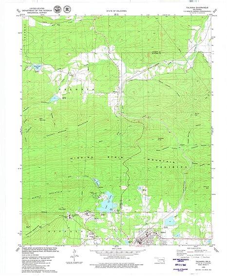 Talihina Oklahoma Map.Amazon Com Yellowmaps Talihina Ok Topo Map 1 24000 Scale 7 5 X