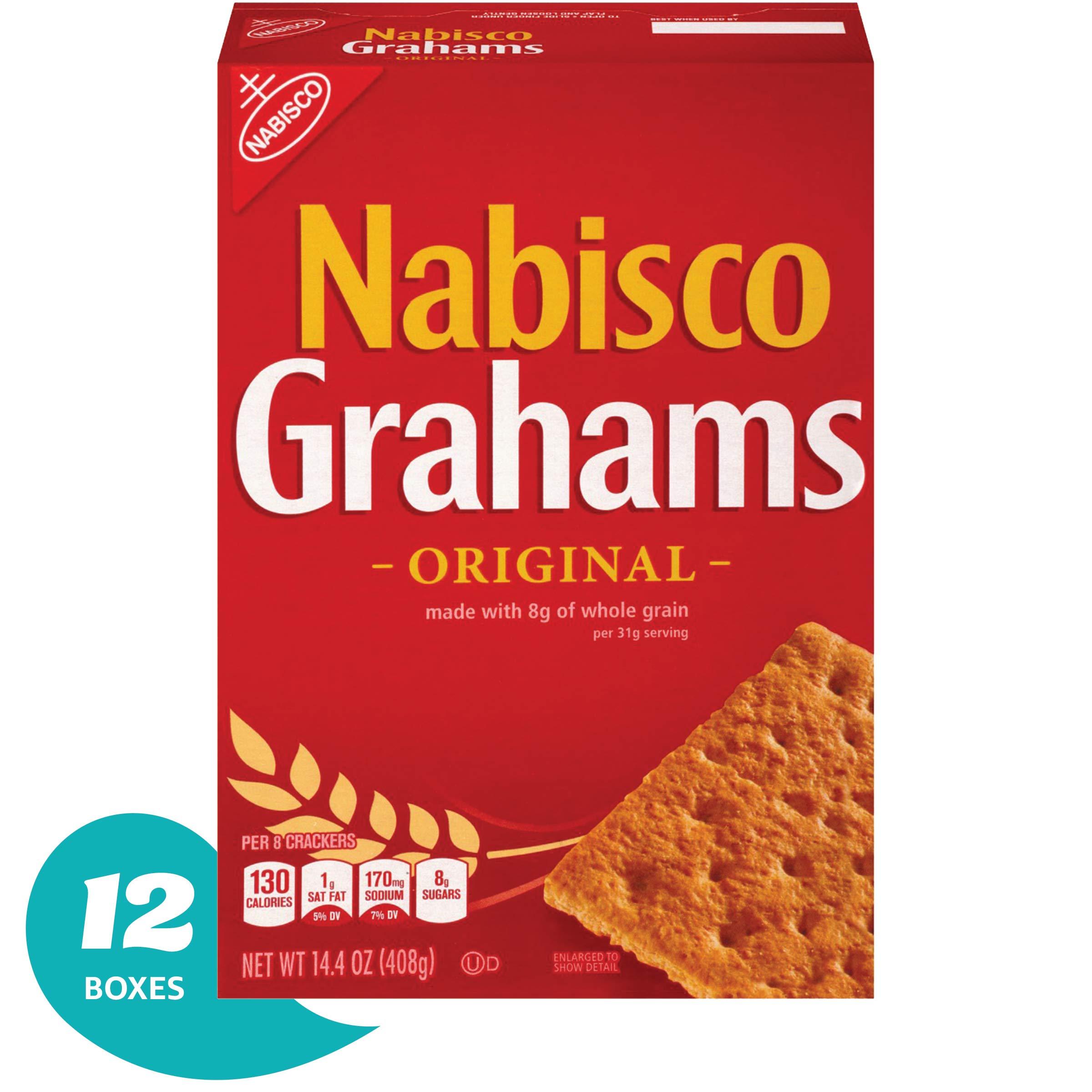 Nabisco Original Grahams Crackers, 14.4 Ounce, (Pack of 12)