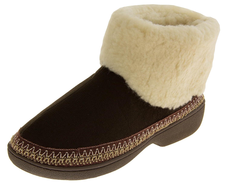 Femmes - Chaussons bottes semelle extérieur doublure chaude - chaude Chaussons Brun Foncé b6790a8 - piero.space