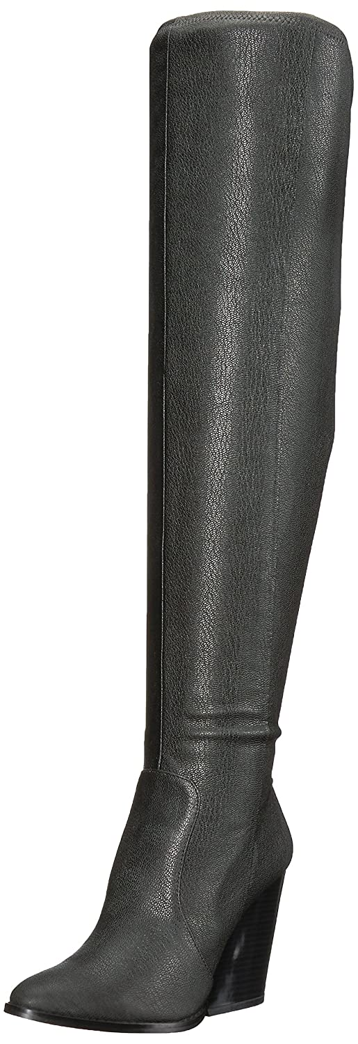 Calvin Klein Women's Catia Over The Knee Boot B073VXXQ7Z 7.5 B(M) US|Black Stretch Pebbled