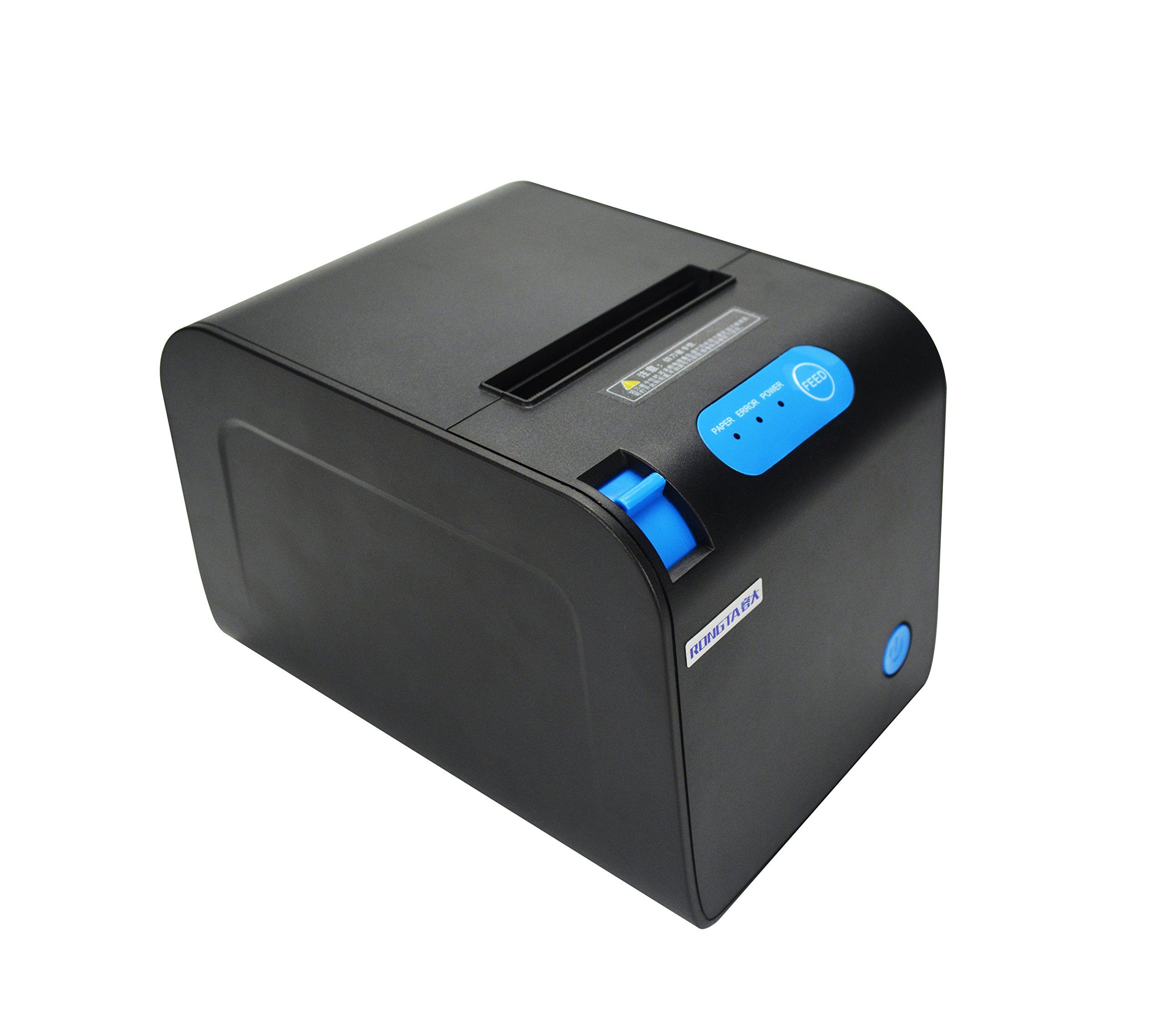 RONGTA RP328U ECO-Friendly Pos Printer, USB (cable incl.), Auto Cutter, Internal Power Supply with Power Cable Incl.