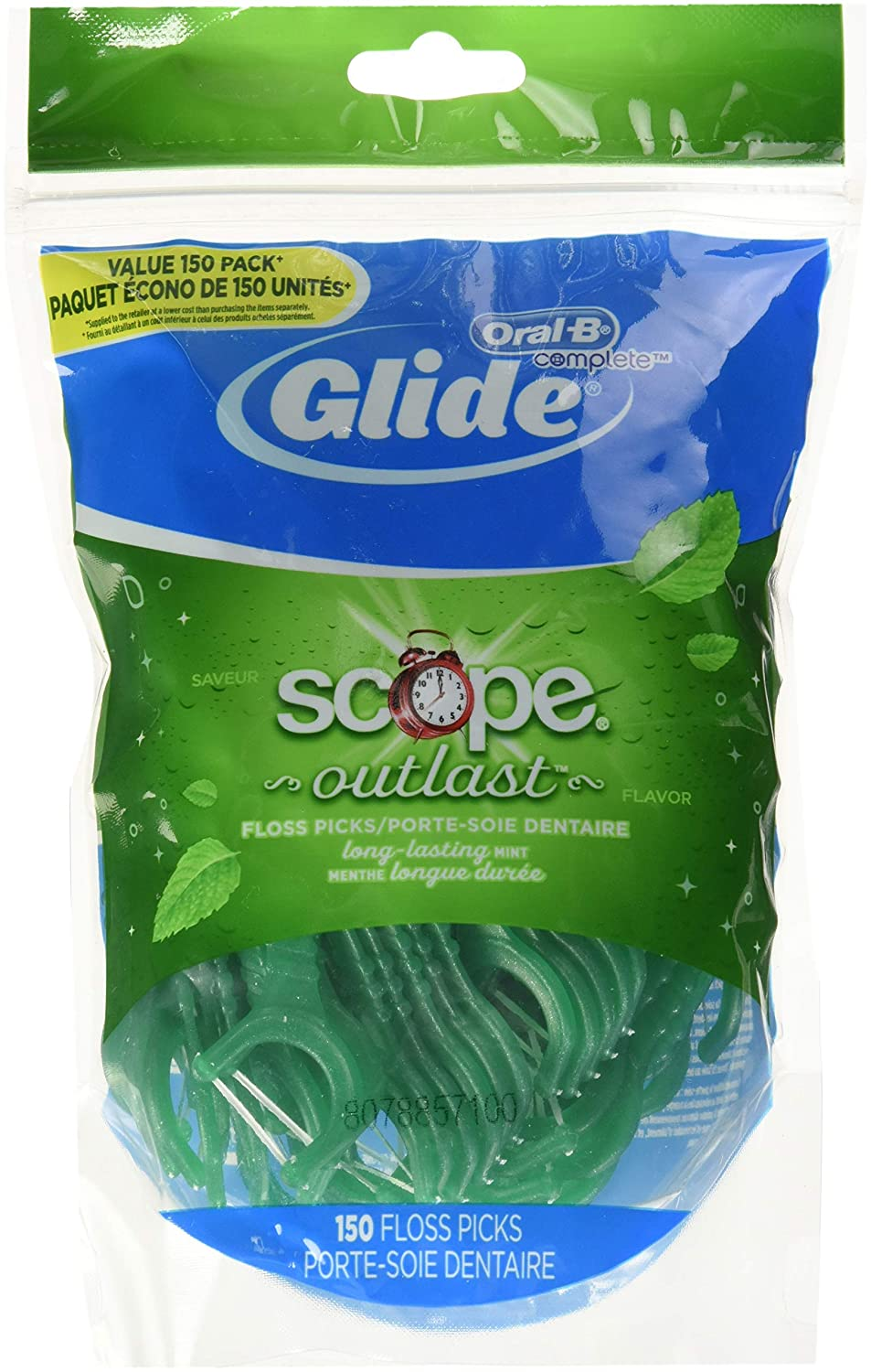 Oral B Glide Complete With Scope Outlast Mint Flavour Floss Picks, 150 Count Procter and Gamble