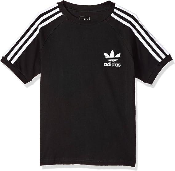 adidas Originals Boys' Big California Tee, BlackWhite, S
