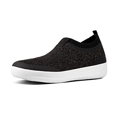 reliable quality 2018 sneakers popular stores Amazon.com | FitFlop W's Uberknit Slip-On Sneakers Black ...