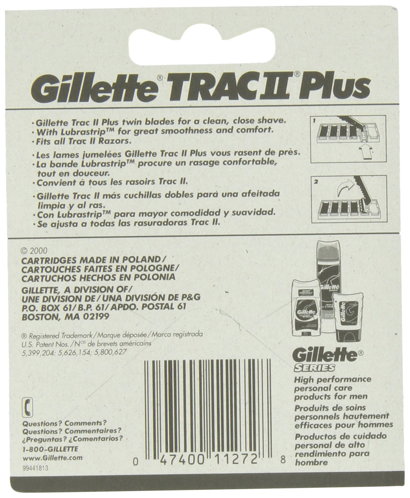 Gillette TRAC II Plus Razor Blade Refill Cartridges - 10 Count (Pack of 2) by Gillette (Image #2)