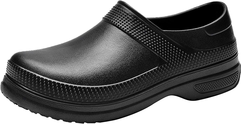 Quseek Unisex Slip Resistant Chef Garden Clog Food Service Work Shoes US5.5-15