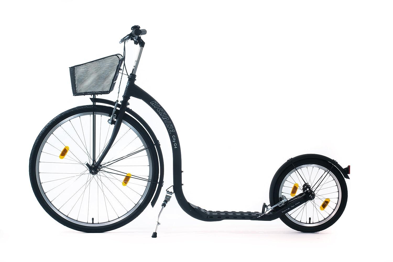 Kickbike Patinete bicicleta C4 con cesta negra: Amazon.es ...