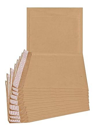 Amazon.com: 25 unidades Kraft sobres acolchados 7,25 x 7 ...