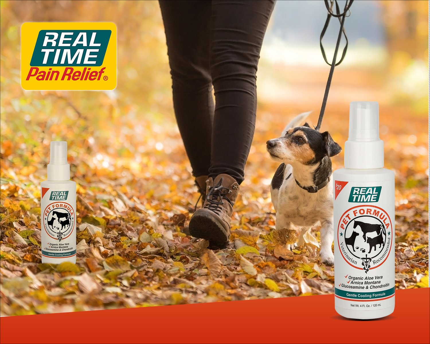 Real Time Pain Relief Pet Formula, 4 Ounce Spray Bottle by Real Time Pain Relief