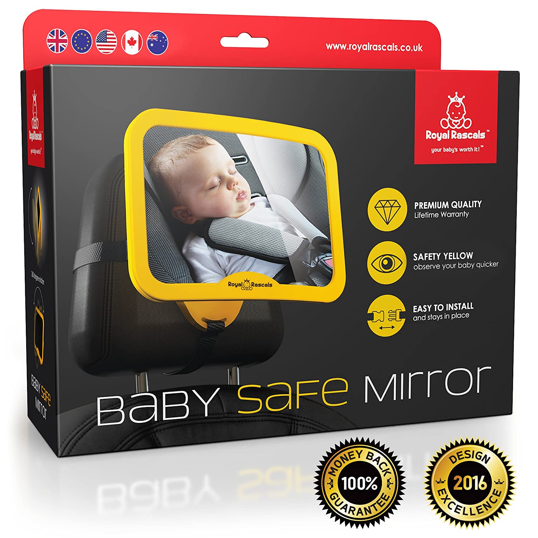 Espejo para vigilar al bebé en el coche por solo 21,99€