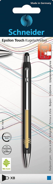Schneider Epsilon Touch Impresión Bolígrafo (grosor de trazo XB, inalterables Mina de De Texto Color: Azul, incluye lápiz capacitivo, fabricado en Alemania) surtidos Schneider Schreibgeräte 73870