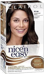 Clairol Nicen Easy Liquid, tinte permanente de aspecto natural, 4 marrón oscuro natural (original)