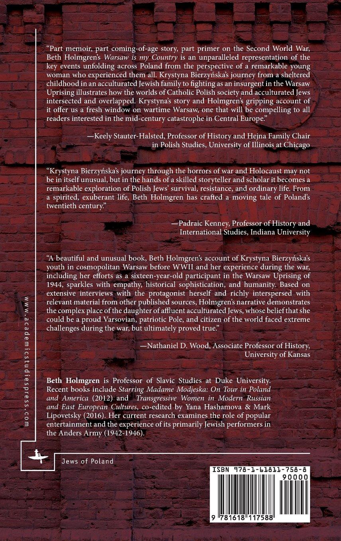 Warsaw is My Country: The Story of Krystyna Bierzynska, 1928-1945 (Jews of Poland) by Academic Studies Press