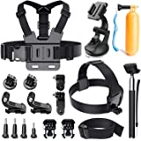 Accessories for Gopro,LUSCREAL Action camera accessories for Hero 5 Hero 4 Session Hero 3 2 1 Xiaomi Yi DBPOWER AKASO APEMAN,most sport camera bundle with Floating Hand Grip/Head Strap/Chest