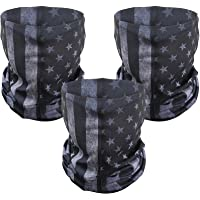 3 Pcs American Flag Outdoor Face Mask- Multifunctional Seamless Microfiber American Flag UV Protection Face Neck Gaiter…