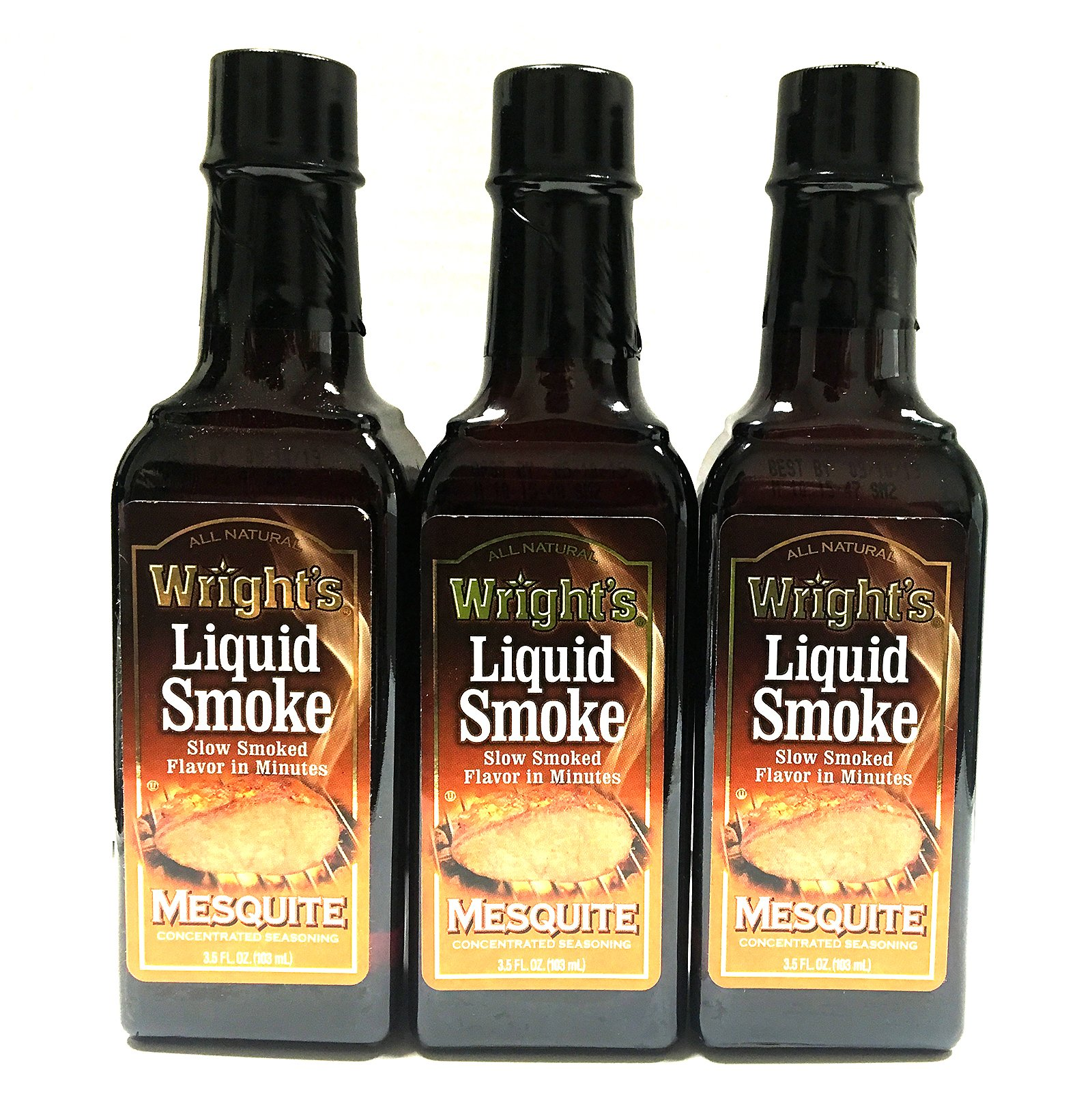 WRIGHT'S All Natural Mesquite Liquid Smoke - 3.5 Oz (Pack of 3)