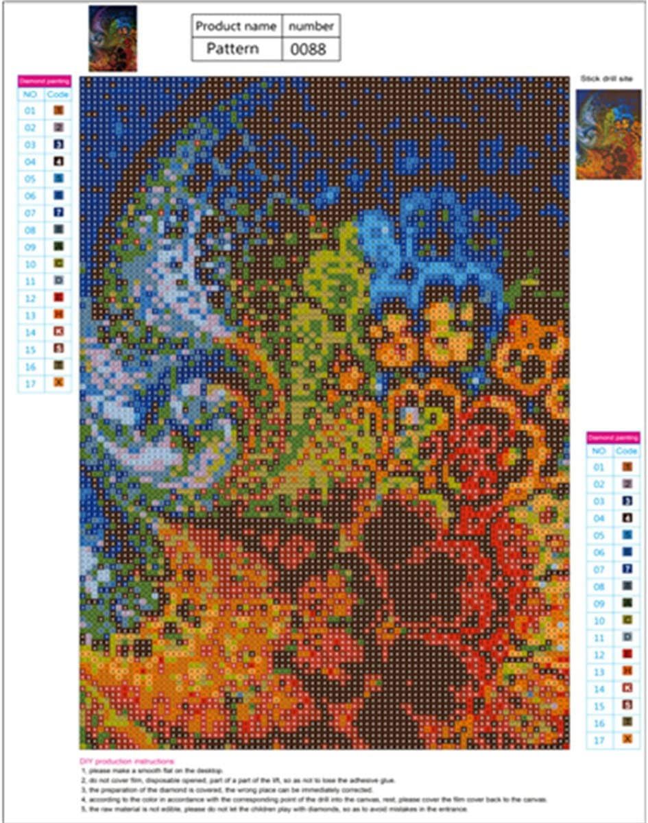 Sunnay 5D Diamante Painting Labirinto decompressione Colore Ricamo Dipinto Strass Arte Fai da Te Diamond Pittura Punto Croce Camera da Letto Soggiorno Ufficio Decorazione
