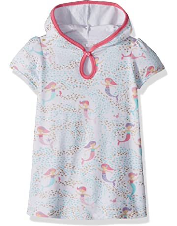 e86967a3e2 Mud Pie Baby Girls Mermaid Hooded Swim Suit Cover Up