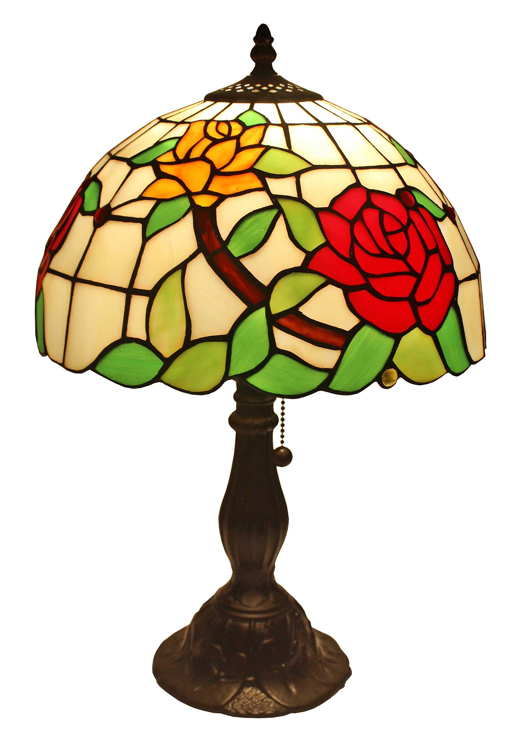 Amora Lighting Tiffany Style AM043TL12 Floral Design 19-inch Table Lamp
