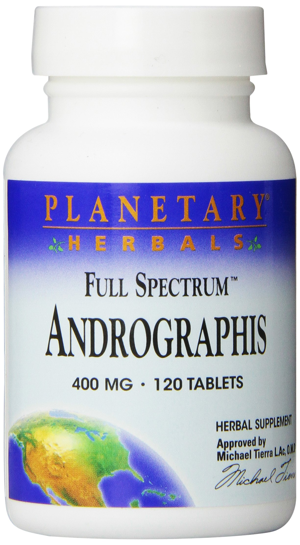 Planetary Herbals Andrographis Full Spectrum 400mg, Traditional Winter Herb,120 Tablets
