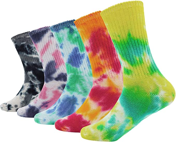 Colorful Light Casual Socks Cotton Crew Socks Crazy Socks For Sports And Travels