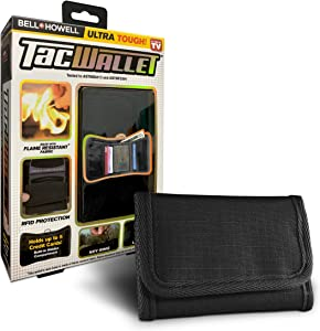 Bell + Howell TAC WALLET Tactical Trifold Slim Wallet for Men, RFID Blocking, Flame Resistant, holds up to 5 Credit Cards As Seen On TV!