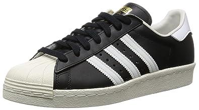 adidas Superstar 80s, Chaussures de Gymnastique Homme, Noir (Black 1/White/