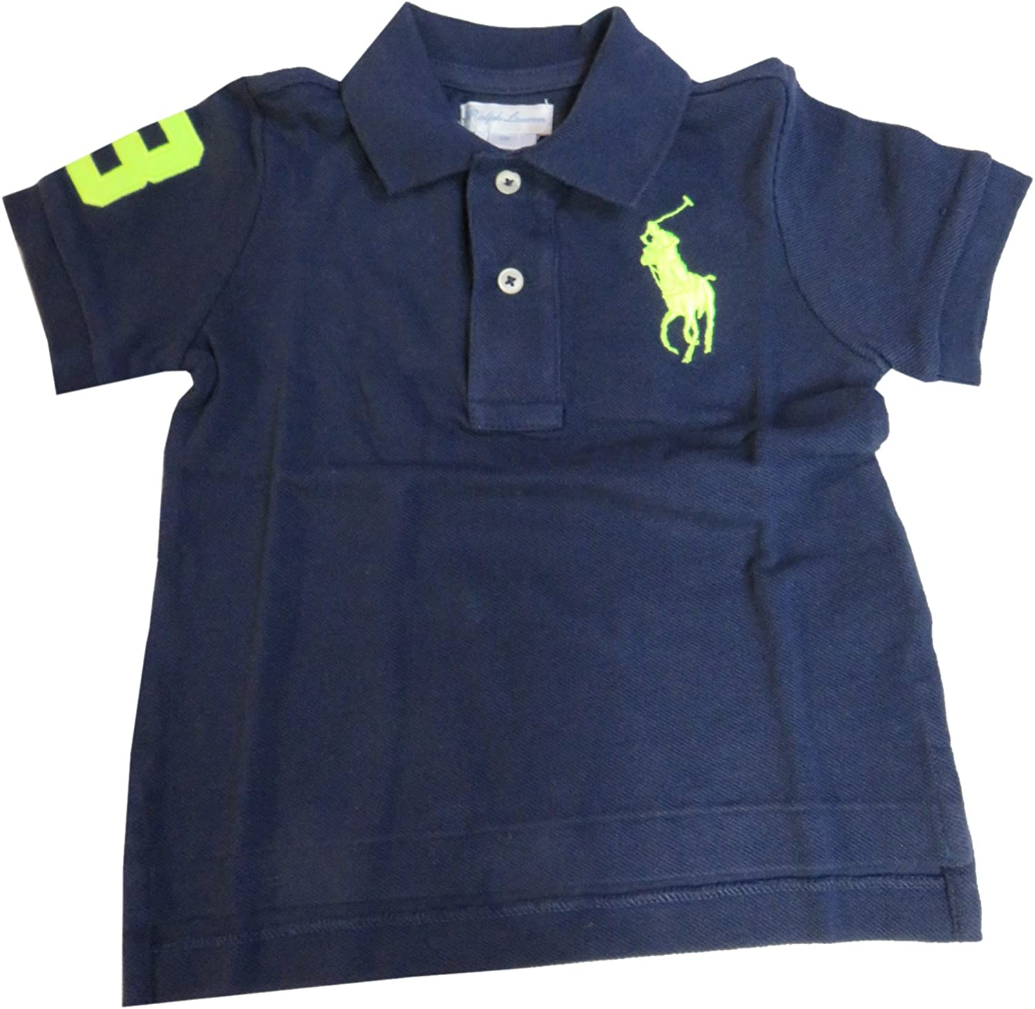 Ralph Lauren Polo Infant Boys Big Pony Short Sleeve Navy
