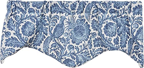 Window Treatments Valance Curtains Kitchen Window Valances or Living Room Blue and White Floral