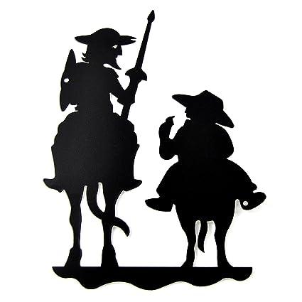forjasport silueta don quijote y sancho panza 25cm amazon es hogar