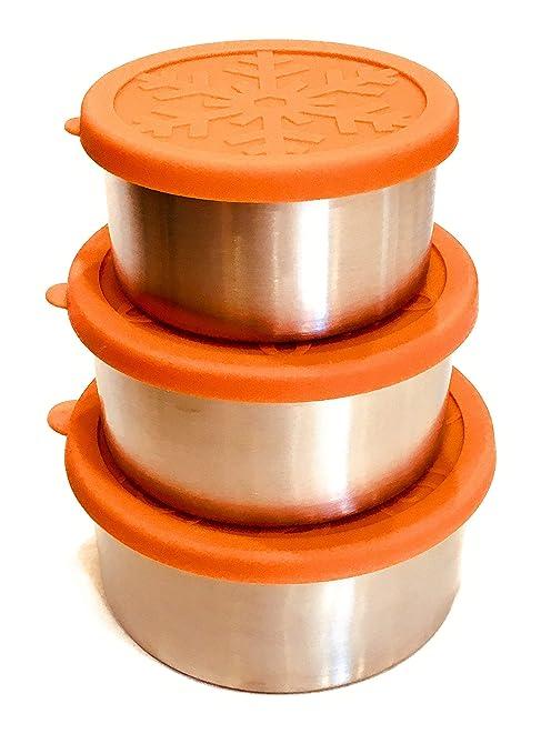Amazon.com: Snackerdoos - Contenedores de alimentos de acero ...