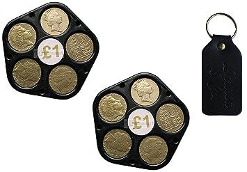 1 One Pound Münze Halter Organizer Pentagon Form Gadget Für 5 Münzen