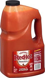 product image for Frank's RedHot Original Cayenne Pepper Hot Sauce, 1 Gallon - One Gallon Bulk Container of Cayenne Pepper Hot Sauce to Add Flavorful Heat to Entrees, Sides, Snacks, and More