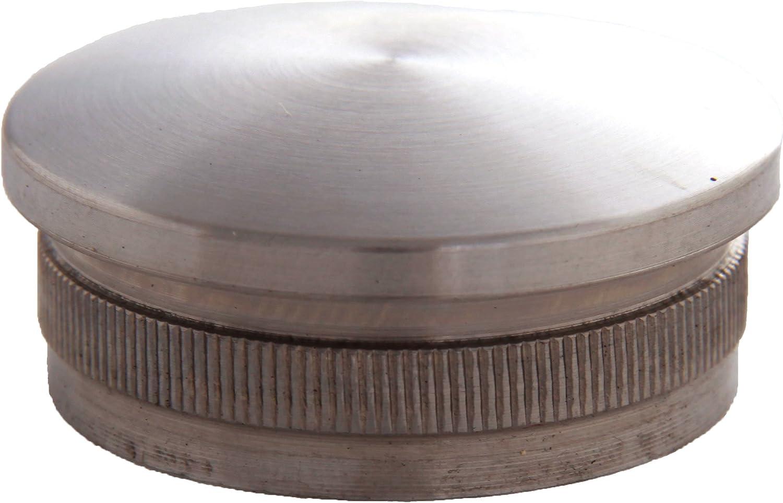 Edelstahldiscounter S011106 acero, abombada, di/ámetro: 42,4 mm Tapa para tuber/ía