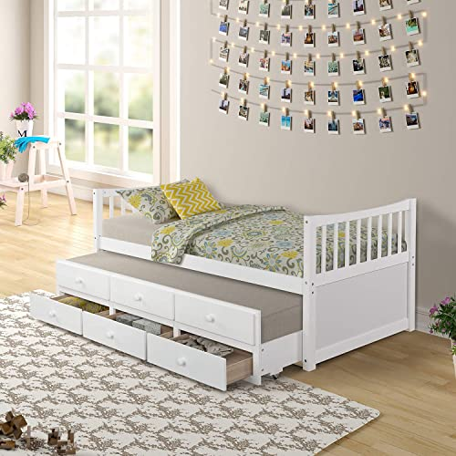 LZ LEISURE ZONE Kids Captain s Bed Twin Daybed