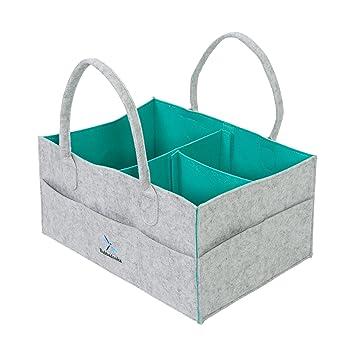 Amazon.com: Cesta organizadora para pañales de bebé, cesta ...