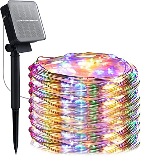 Solar String Lights Automatic Switch ,8 Modes 200 LED 72ft Solar Powered Waterproof Fairy String Copper Wire Lights for Christmas, Bedroom, Patio, Wedding, Party,Outdoor Decorative