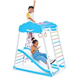 Indoor Playground Toddler Climber Slide – Kids Jungle Gym Playset – Activity Toddler Climber Structure – Play Gym Swedish Lad