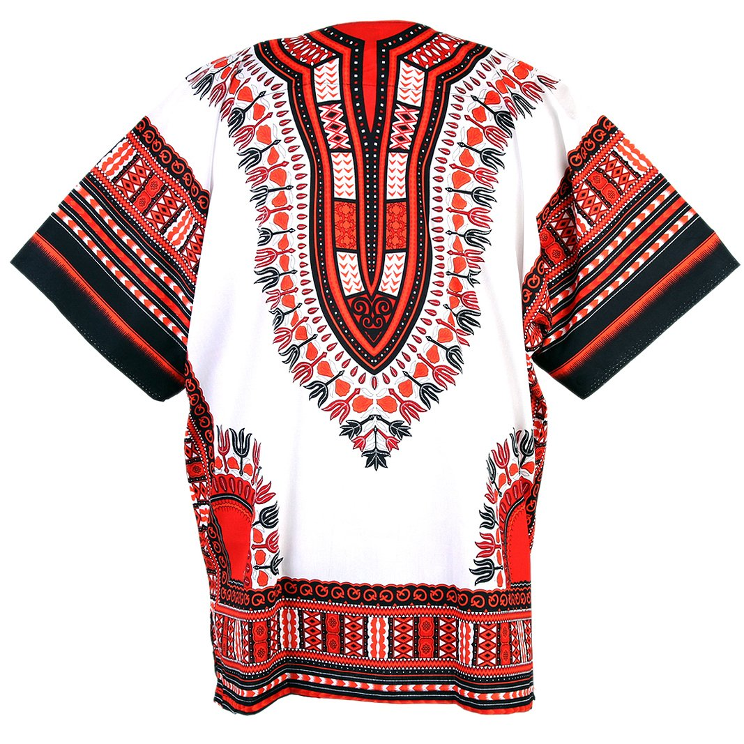 Chainupon African Dashiki Cotton Shirt Unisex Tribal Festival Boho Hippie Kaftan