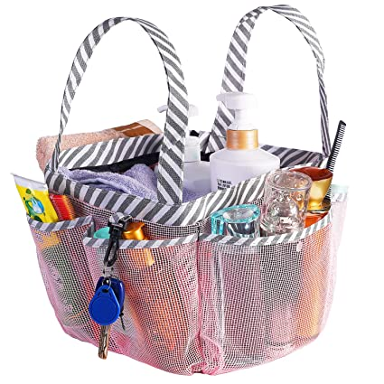 Amazon.com: Haundry Portable Mesh Shower Caddy, 8 Basket Tote for ...
