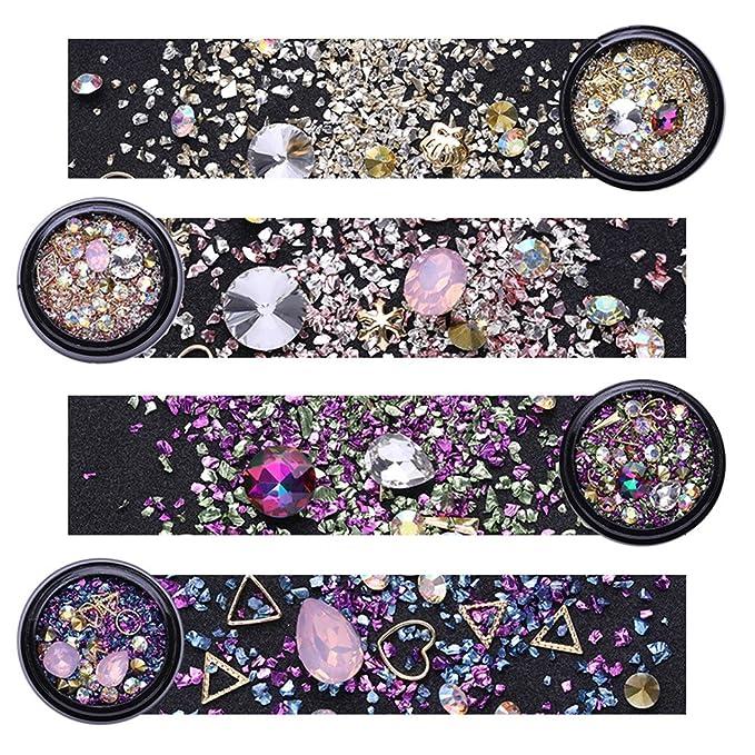 1 opinioni per NICOLE DIARY Nail Art Set di Strass Misto Glitter per Unghie Cristallo