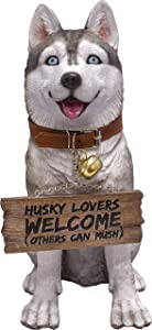 """DWK """"Scout Husky Lovers Dog Sign 