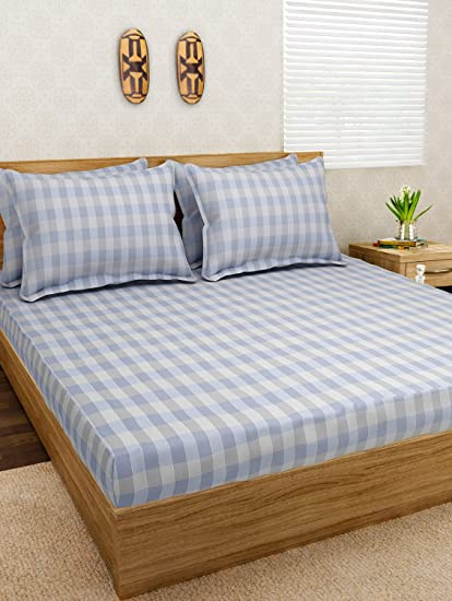 Jersey Dreams Check Knitted Fitted Bedsheet Set