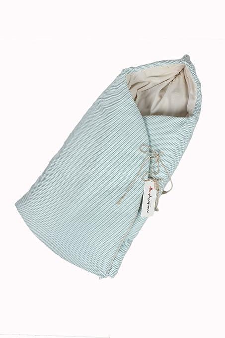 NBB Saco para capazo o cuco acolchado de invierno con capucha- Aqua.