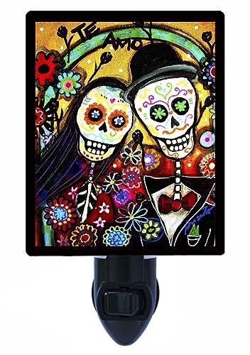 Sugar Skull Night Light Te Amo Wedding Decorative Skull