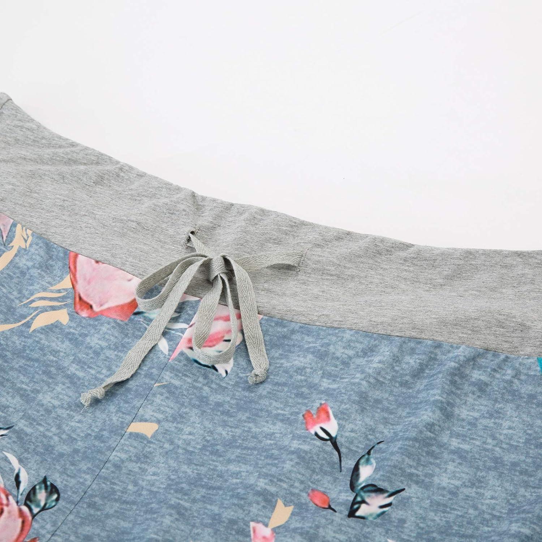 Hanna Nikole Pajama Bottoms for Women Plus Size Cotton Floral Print Pant