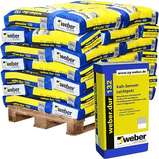 42 Sack/Palette weber.dur 132 Kalk-Zement Leichtputz 30kg mineralisch Unterputz Einlagenputz