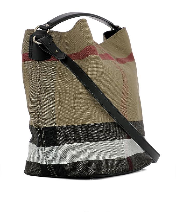 1929548f66bec Burberry Borsa Shopping Donna 3945726 Tessuto Beige  Amazon.it   Abbigliamento