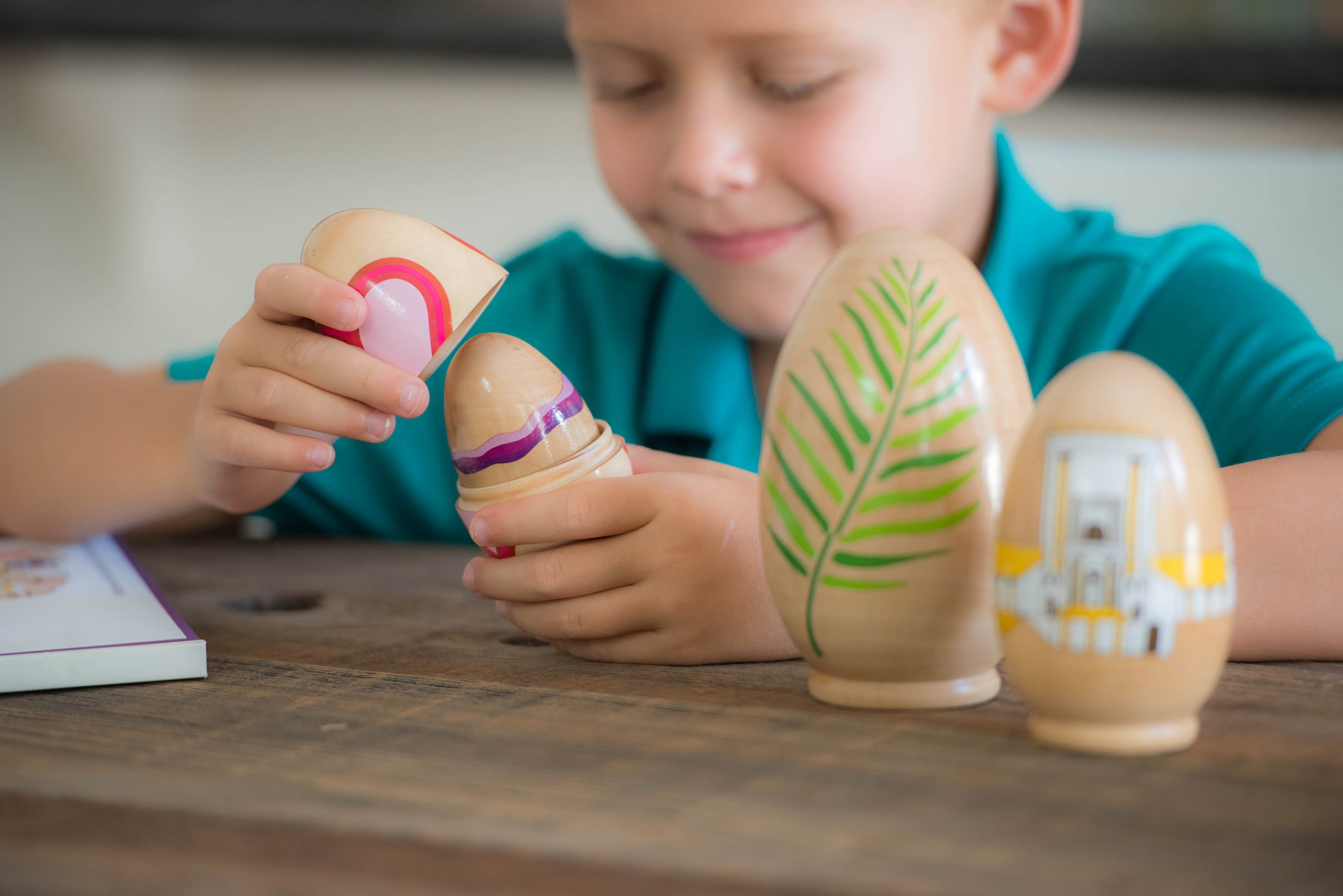 STORY EGG The Easter Colorful Nesting Toy with Resurrection Book – Great Christian or Catholic Gift for Children by STORY EGG (Image #4)