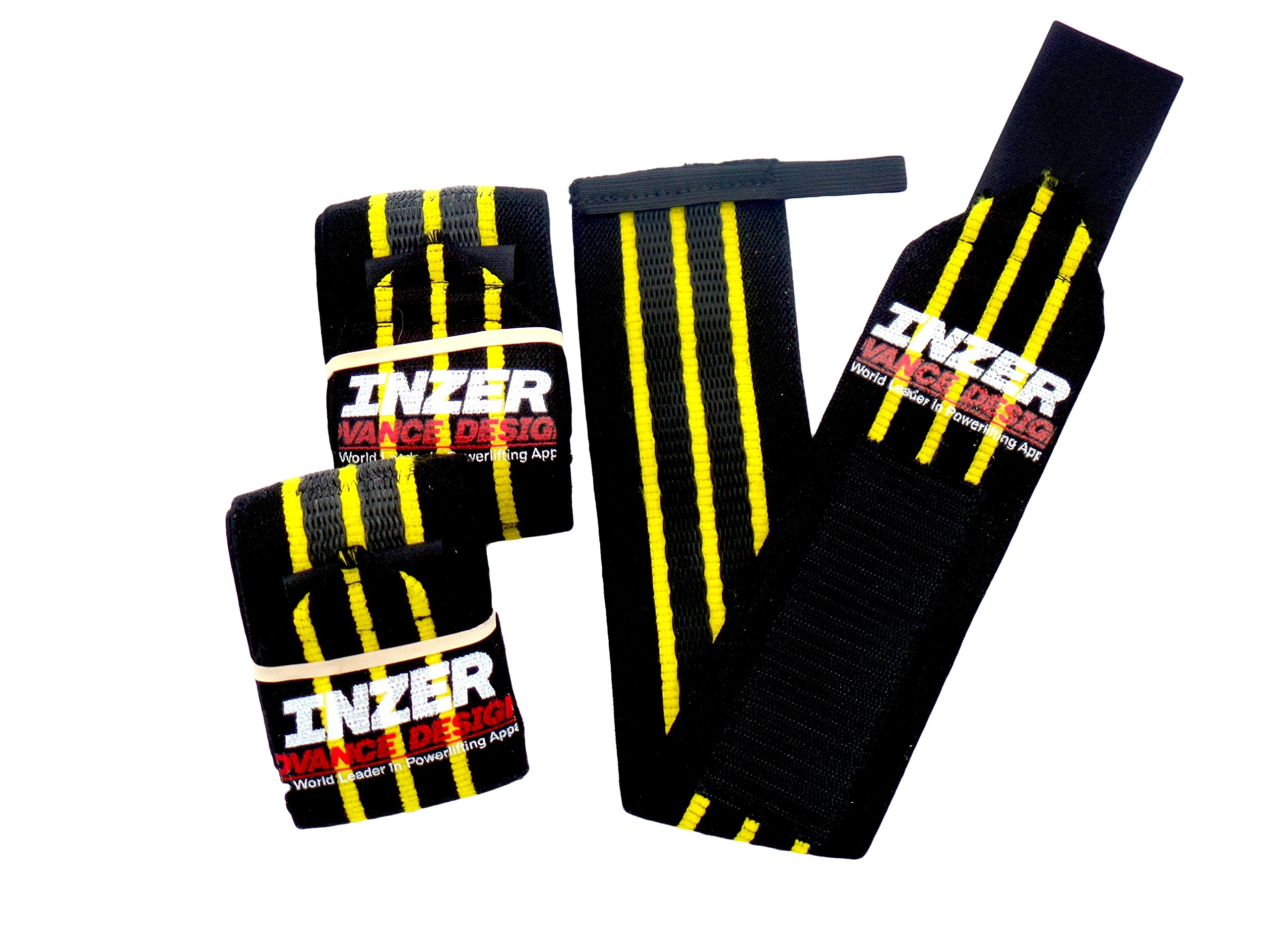 Inzer Advance Designs Gripper Wrist Wrap Large (36'') Yellow